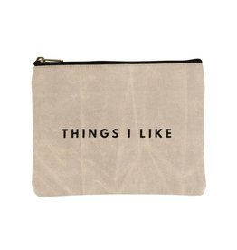 Indaba Indaba Things I Like Canvas Pouch