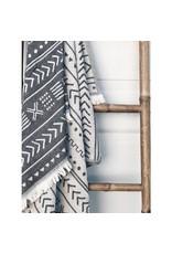 Smyrna Collection Smyrna Ethnic Cotton Peshtemal Towel Black