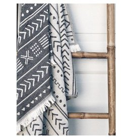 Smyrna Collection Smyrna Ethnic Cotton Peshtemal Towel Black