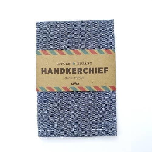Bittle & Burley Handkerchief (Black Chambray)