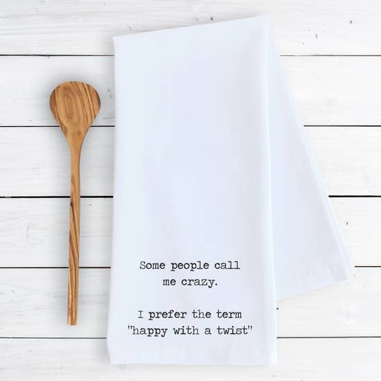 Dev D + Co Dev D + Co Happy with a Twist Tea Towel