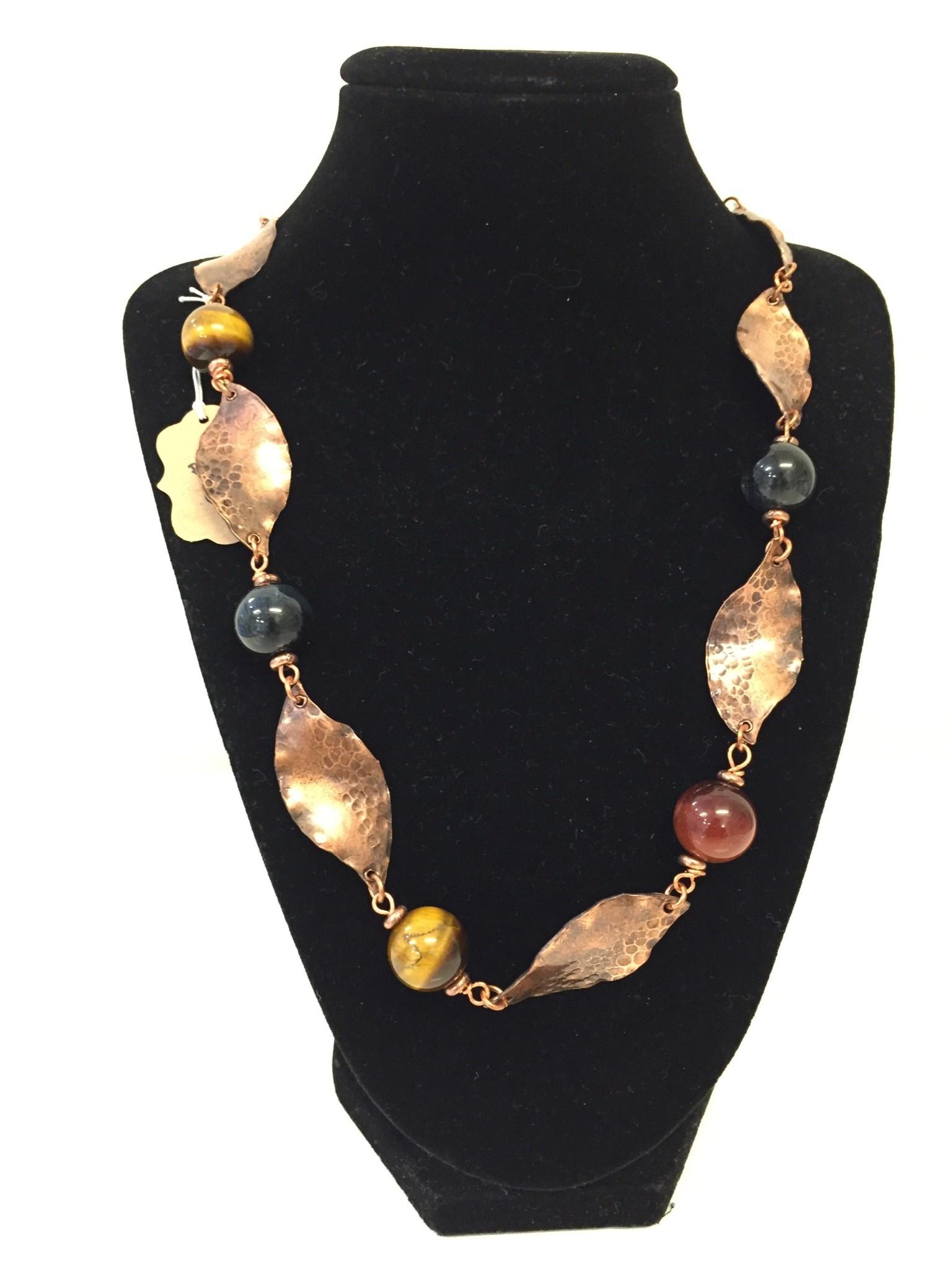 Linda Meadows Tiger Eye Copper Necklace
