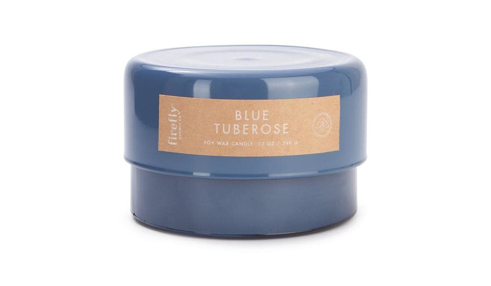 Firefly Candle Co Firefly Botany Collection Blue Tuberose Candle