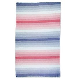 Riviera Towel Co Riviera Santa Barbara Turkish Towel Nvy/Red