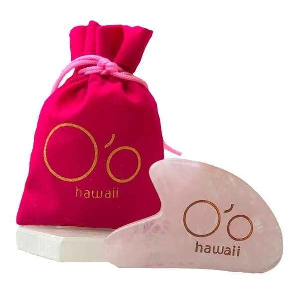 O'o Hawaii O'o Hawaii Rose Quartz Gua Sha Beauty Tool