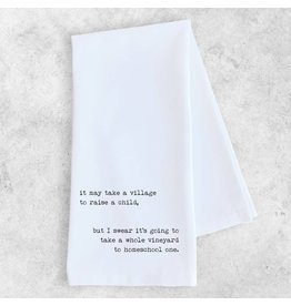 Dev D + Co Dev D + Co It May Takes A Village Tea Towel