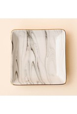 Sweet Water Decor Sweet Water Decor Grey Marbled Jewelry Dish