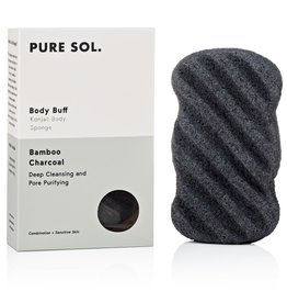 Pure Sol Pure Sol Charcoal Konjac Body Sponge