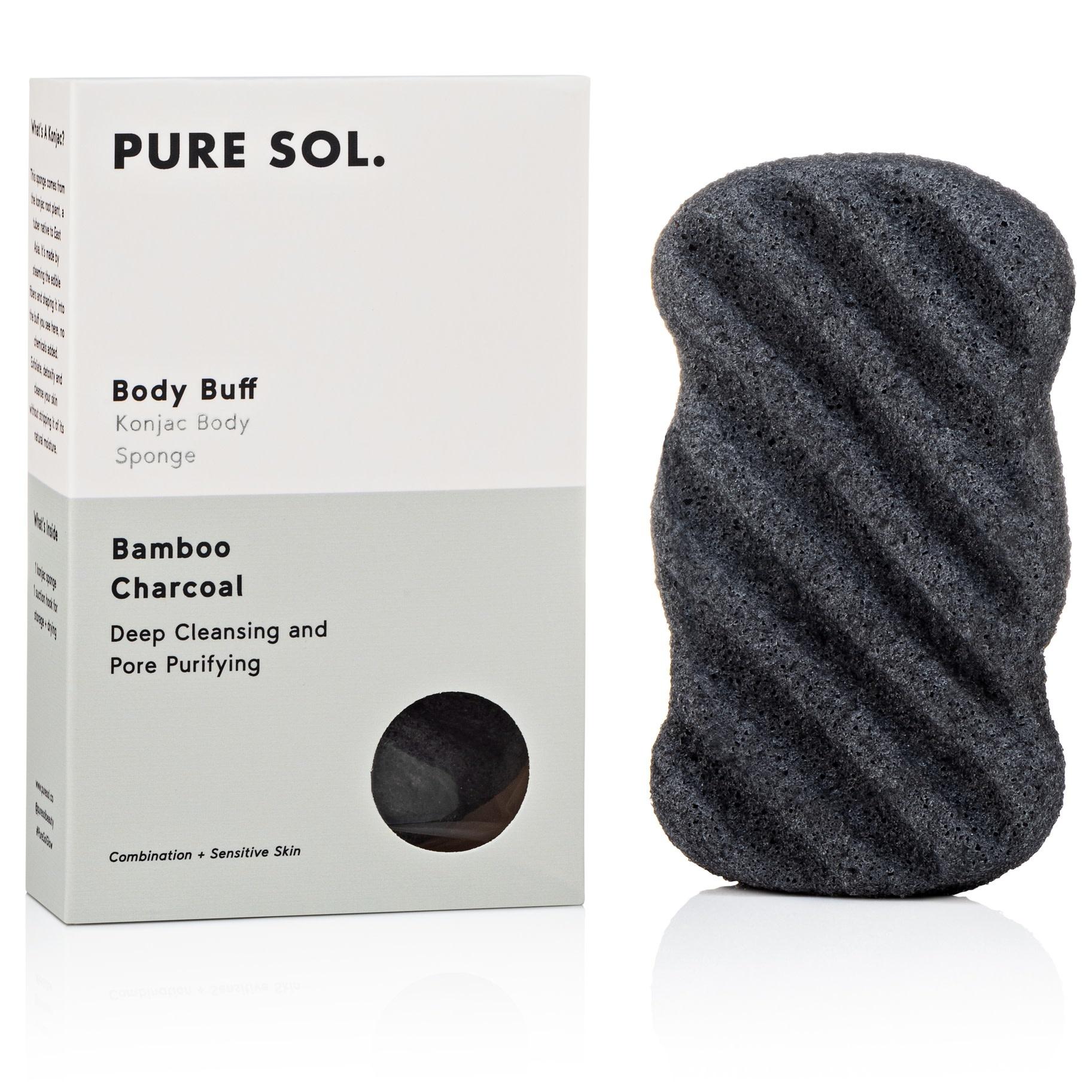 Pure Sol Pure Sol Charcoal Konjac Body Sponge(SALE40)