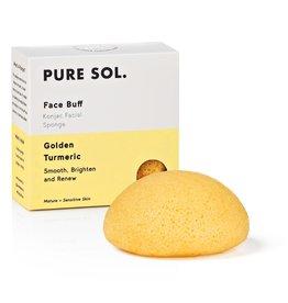 Pure Sol Pure Sol Tumeric Konjac Facial Sponge