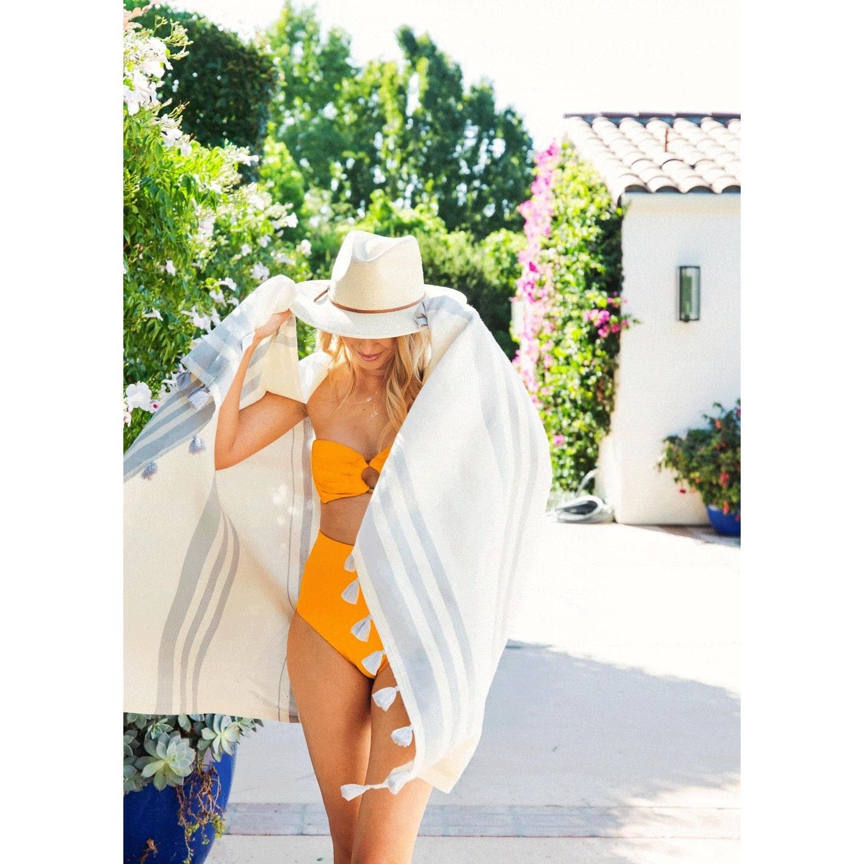 Riviera Towel Co Riviera Towel Portofino Turkish Towel Grey