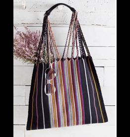 Lumily Lumily Poppy Woven Hammock Bag Black