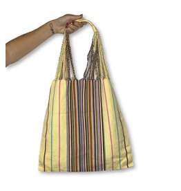 Lumily Lumily Poppy Woven Hammock Bag Yellow