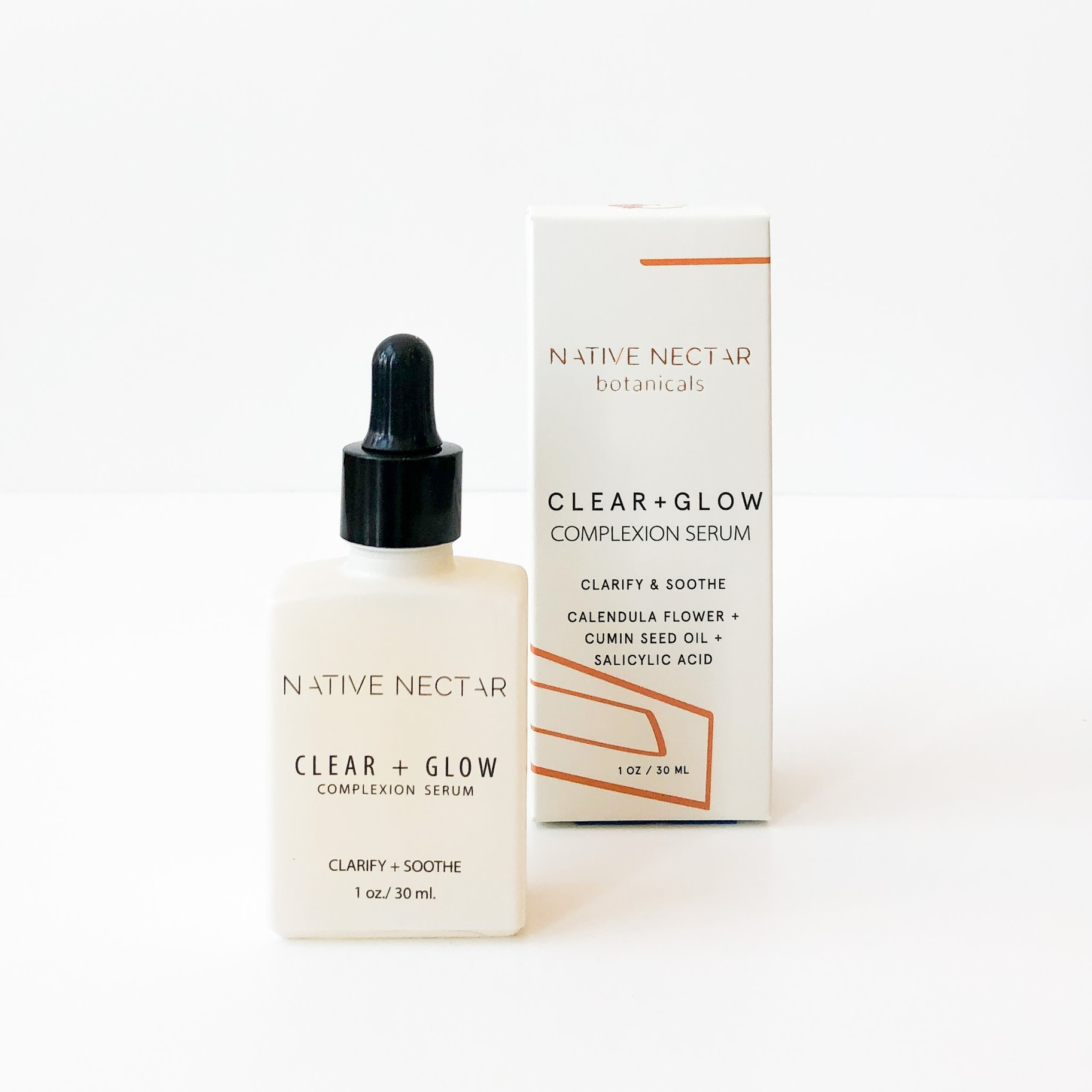 Native Nectar Botanicals Native Nectar Botanicals Clear+ Glow Complexion Serum