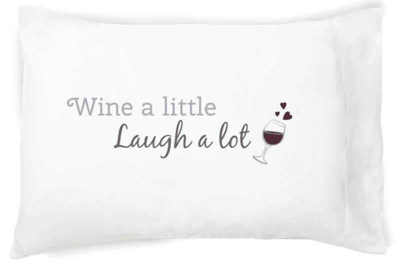 Faceplant Dreams Faceplant Dreams Wine a Little-Std (Single Pillowcase)