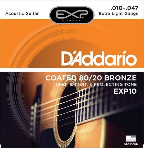 D'ADDARIO EXP10 ACOUSTIQUE D'ADDARIO