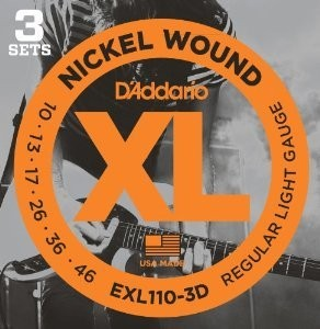 D'ADDARIO EXL110 3D ELECTRIQUE D'ADDARIO