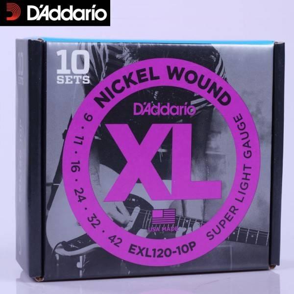 D'ADDARIO EXL120 10P ELECTRIQUE D'ADDARIO
