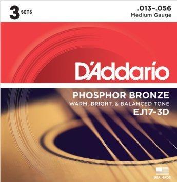 D'ADDARIO EJ17-3D ACOUSTIQUE D'ADDARIO