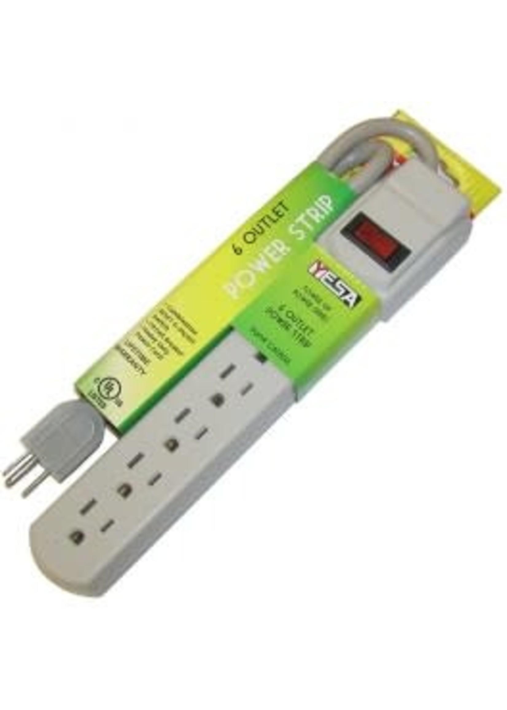 YESA Copy of Multiprise 6 prises et 2 ports USB YESA