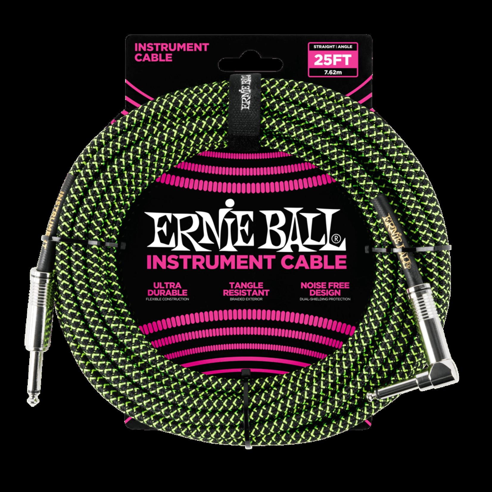 ERNIE BALL 6066EB 25' STRGHT/ANGLE GREEN