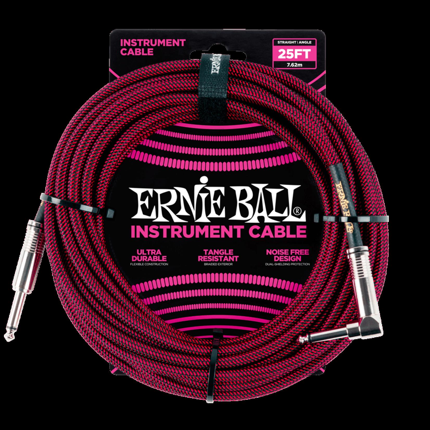 ERNIE BALL 6062EB 25' STRGHT/ANGLE RED-BLACK