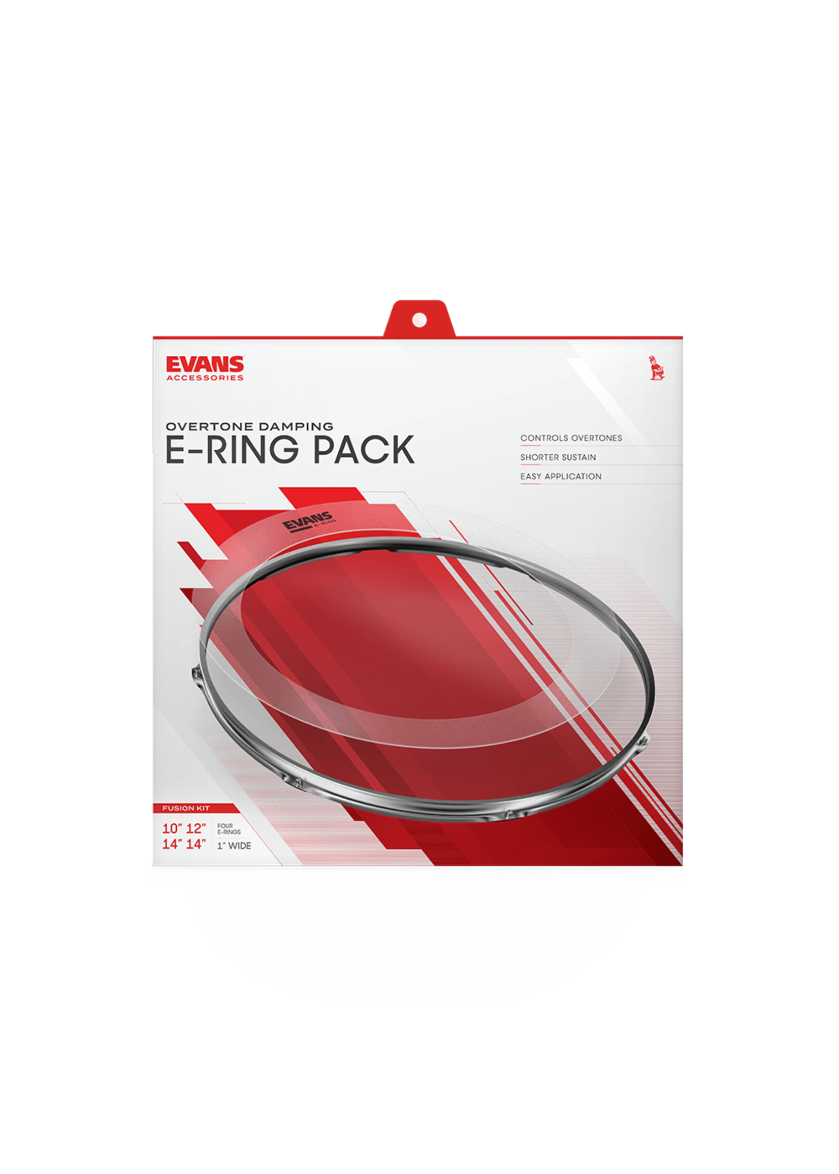 "Evans Accessories E-RING 10-12-14-14"" FUS PACK"