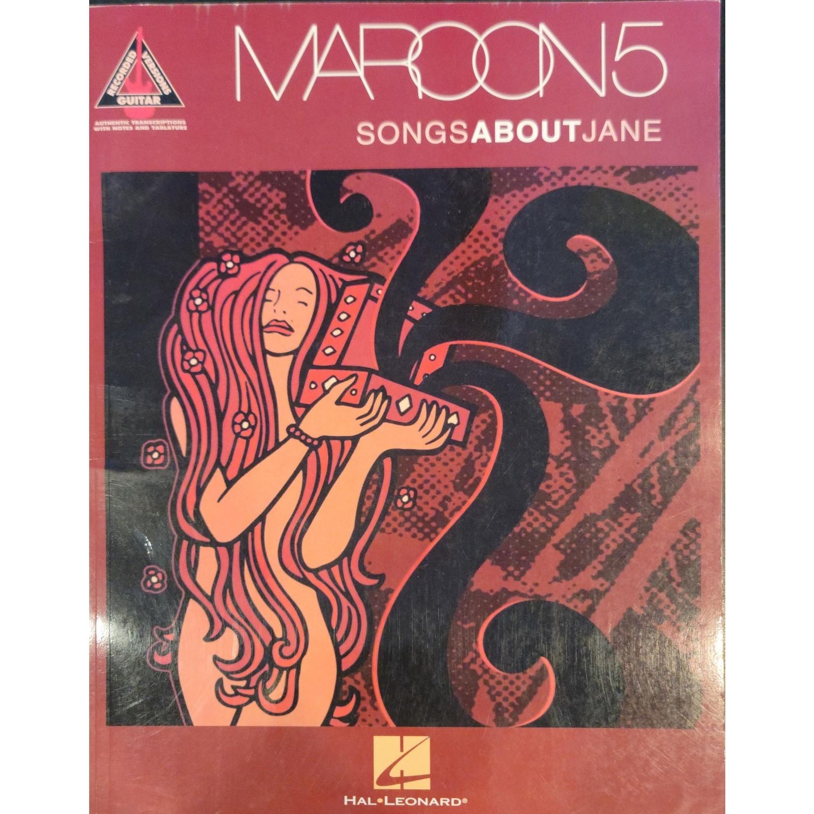 HAL LEONARD LIVRE SONGS ABOUT JANE/ MAROON5