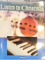 HAL LEONARD LIVRE LISTEN TO CHRISTMAS/PIANO