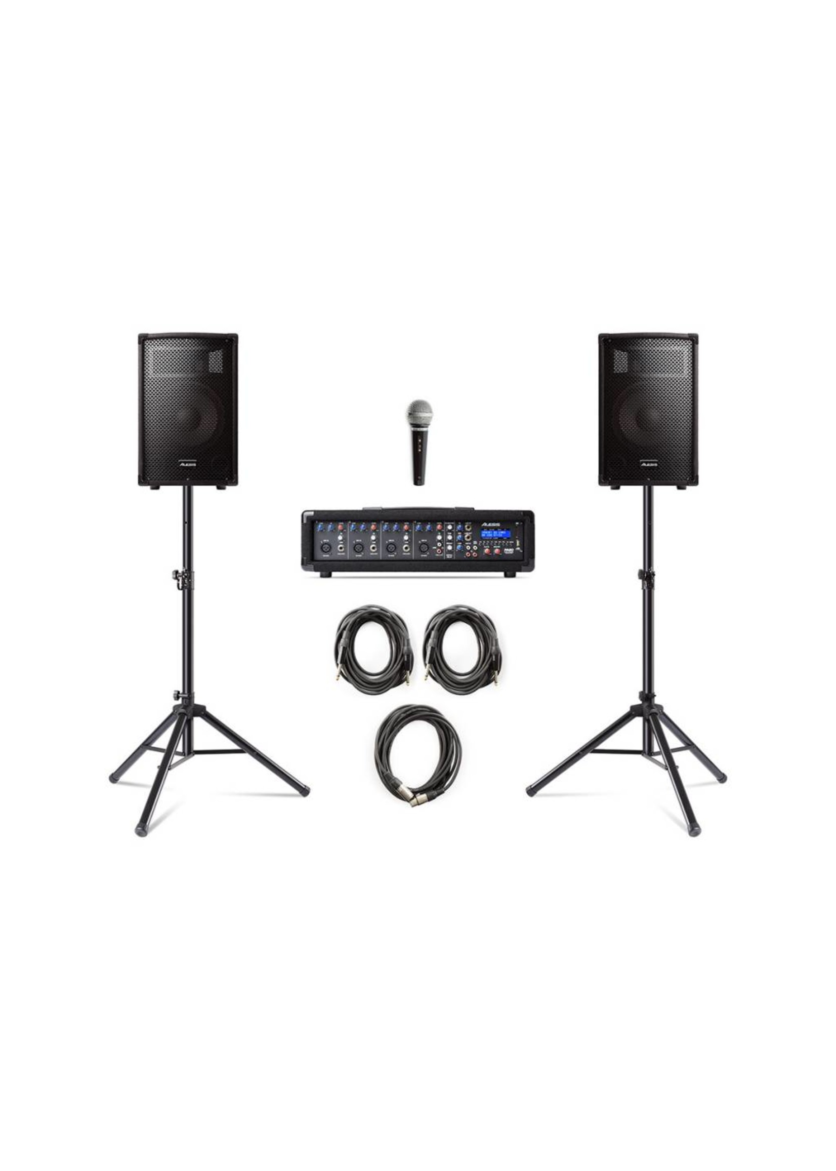 ALESIS PA SYSTEM W STANDS ALESIS