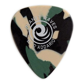 DAddario Planet Waves CELLULOID CAMO .70MM 10PK D'ADDARIO