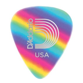 DAddario Planet Waves CELLULOID RAINBOW .70MM 10PK D'ADDARIO