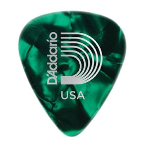 DAddario Planet Waves CELLULOID GREEN PEARL .50MM 10PK D'ADDARIO