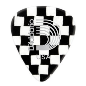 DAddario Planet Waves CELLULOID CHECKERBOARD 1.0MM 10PK D'ADDARIO