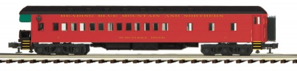 MTH - Premier #20-44052, 70' Madison Passenger Observation Car, Reading & Northern