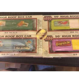 Proto 1000 Proto 1000 High Roof Popsicle Boxcars (4)