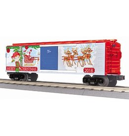 MTH #30-74929, O-27 Box Car, Christmas/Traditional/2018