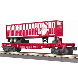 MTH #30-76740, O-27 Flat Car w/40' Trailer, Christmas 2018