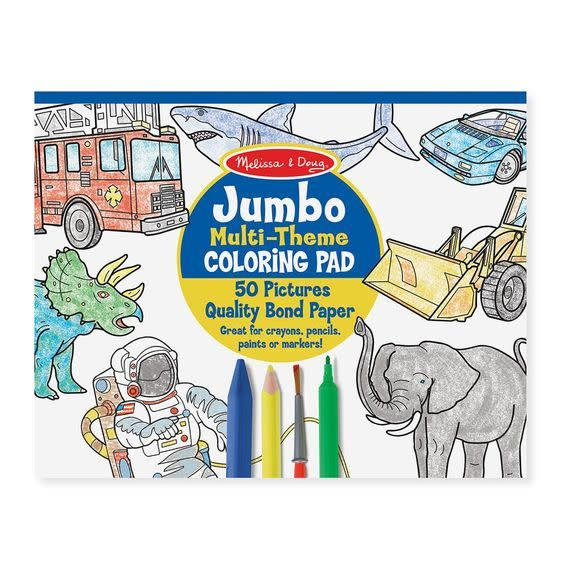 Melissa & Doug Jumbo Multi-Theme Coloring  Pad