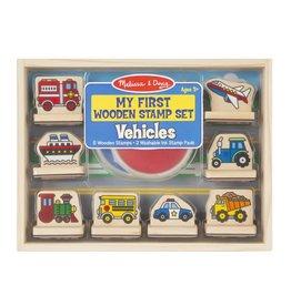 Melissa & Doug M&D My First Wooden Stamp Set (Vehicles)