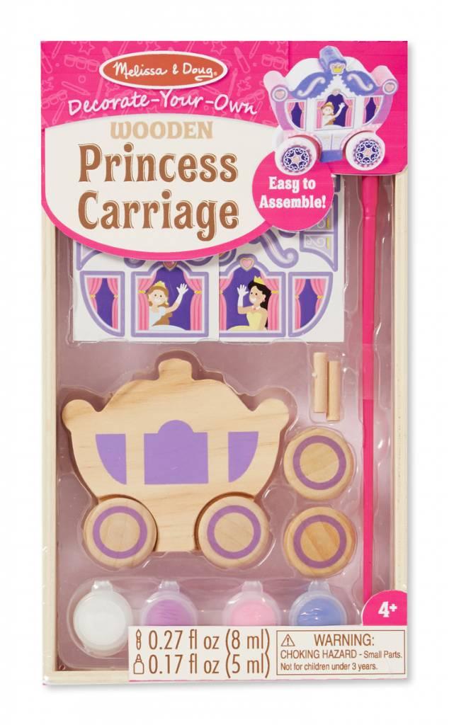 Melissa & Doug WOODEN DYO PAINT - Princess Carriage