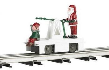 BACHMANN 23803 WM Operating Handcar Christmas Santa/Elf O