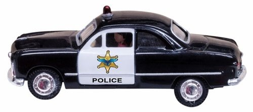 Woodland Scenics #JP5973, Woodland Scenics Just Plug Police Car O Scale
