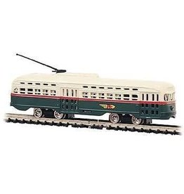 BAC #62995, Bachmann N Scale PCC Trolley, PTC/Green/Cream
