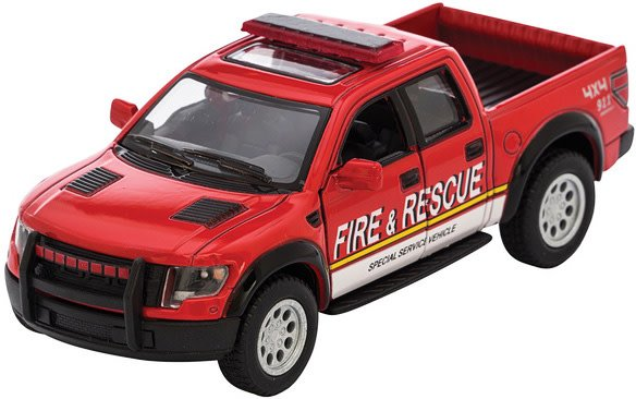 Schylling DC Raptor Fire OR Police Rescue - Friction Pull Back