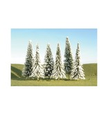 """BAC # BAC32102, Scenescapes Pine Trees w/Snow, 3-4"""" (9)"""