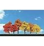 "WOO #TR3541, Woodland Scenics Harvest Blaze Trees 3""- 5"" (6)"