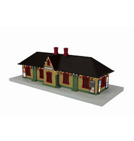 MTH - RailKing #30-90586, Country Passenger Station W/operating Christmas Lights