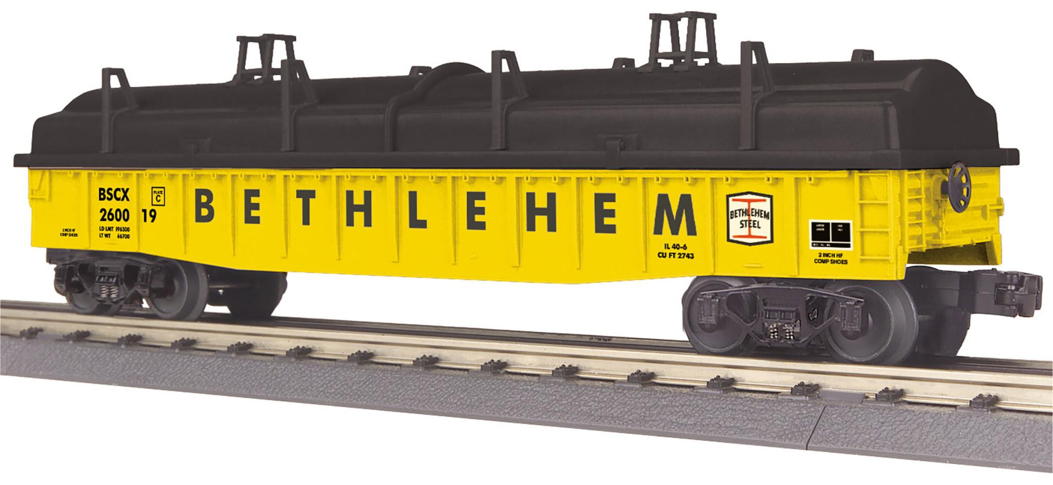 MTH - RailKing Bethlehem Steel Gondola Car w/Cover