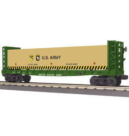 MTH - RailKing U.S. Army Bulkhead Flat Car w/ Lumber Load